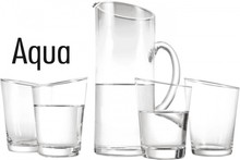 Decanter Aqua (5-delt sæt med et glas karaffel og fire glas)
