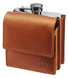 Route 66 collectie! Chic hip flask with Route 66 logo