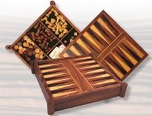 """5-in-1 houten spellenkisten """"De Luxe"""""""