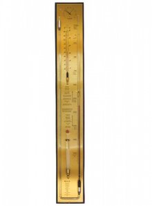 NIEUW! Barometer with counter tube, hygrometer, thermometer and barometer Camphor