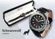 Schwarzwolf analoog horloge Zermatt