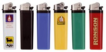 Cheap disposable lighters (with a logo and / or text on one side in 1 color)