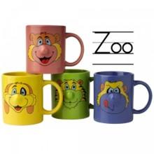 Порцеланови детски чаши с животински глави