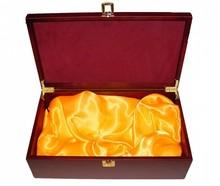 Luxe kist (max. 2 flessen) met binnenvoering voor gedestilleerd