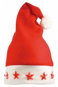 Купете евтини червени коледни шапки със светещи светлини?