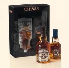 Уиски Chivas Regal кутия за подарък (включително две бутилки уиски)