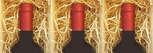 Wood вата в продължение на три-бен вино кутия (пълнеж)