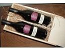 Wijnpakket Virginie (2-vaks wijnkist met houtwol en 2 flessen Virginie Merlot)