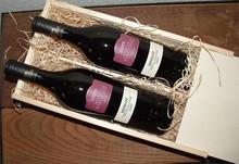 Wine пакет Виржини (2-бен вино кутия с дървесна вата и 2 бутилки Виржини Мерло)