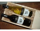 Africa Wine Package Classic (2-bin wine box with sliding lid included two African wine bottles, 1x white and 1x red, filled with excelsior)