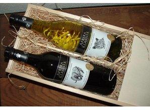 2-vaks wijnkist met 2 flessen Afrika Klassiek kopen?