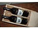 Africa Red Wine Package Classic (2-bin wine box with sliding lid included two African red wine bottles, filled with excelsior)