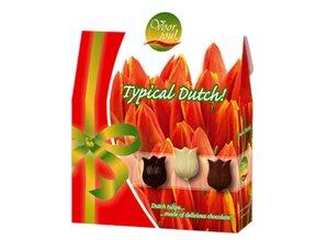 """Типичните холандски """"Букет от лалета"""" с 100 грама шоколад лалета"""