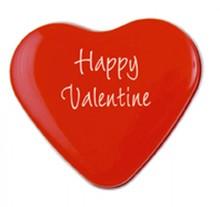 Goedkope blikjes met hartjes voor Valentijnsdag incl. logo/tekst in 1 kleur