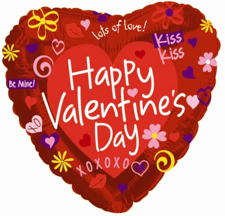 Außergewöhnlich Happy Valentinstag Ballon In Liebeslyrik!