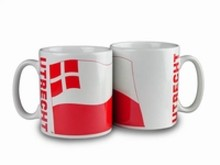 The cheapest mug with an illustration, the arms of the province of Utrecht