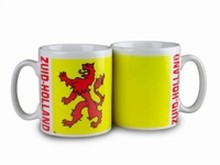 The cheapest mug with an illustration, the arms of the province of Zuid-Holland