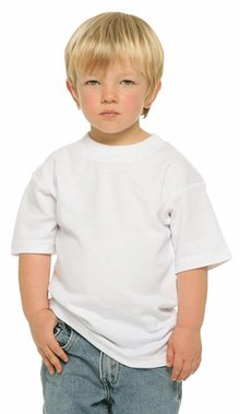 Buy cheap white kids T-shirts? Cheap white kids T-shirts (100% cotton) with short sleeves and round neck