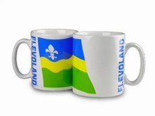 The cheapest mug with an illustration, the arms of the province of Flevoland