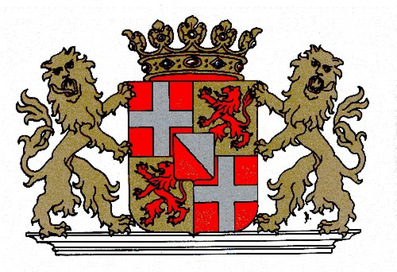 Glazen snoeppot met afbeelding wapen provincie Utrecht - Goods and