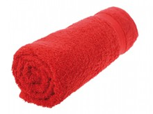 Cheap red terry towels (size 50 x 100 cm)
