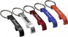 Cheap bottle opener with key ring printed with your text / logo