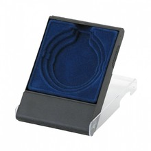 Luxury coin boxes for medals in 50 mm and 70 mm (blue)