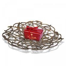 """Bronzen schaal """"Unieke Binding"""" symbolische verbondenheid!"""