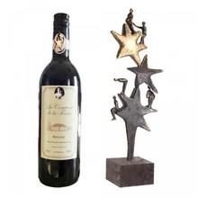 """Sculptuur """"Het Sterrenteam"""" incl. fles kwaliteitswijn!"""