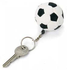 Køb billige nøgleringe fodbold? Nøgle i form af en fodbold (sort / hvid farve)