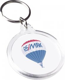 Cheap round transparent Key (size Ø 4,5 x 5 cm)