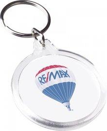Евтини кръг прозрачен ключ (размер Ø 4,5 х 5 см)