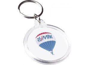 Buy cheap round transparent keychains?