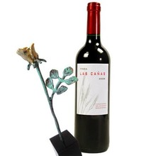 """Sculptuur met wijn """"Dank voor uw Inzet"""""""