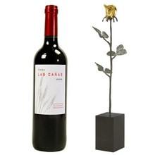 """Sculptuur met wijn \""""Dank voor uw Inzet\"""""""