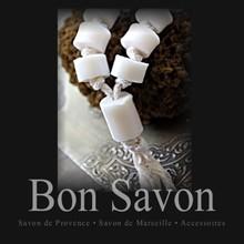 Bon Savon Bon Savon Sæbe Halskæde med håndskårne perler af duftende olivenolie sæbe