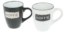 """2 Senseo Mokken met tekst """"KOFFIE"""" in geschenkverpakking!"""