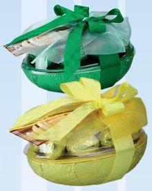 Luxe Paasei in geschenkverpakking met chocolade Paaseitjes kopen?