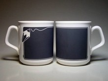 Mugs with chalkboard paint (written on with chalk)