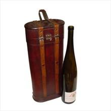 """Koloniale wijnkist """"Magnum"""" voor 1 fles magnum wijnfles"""