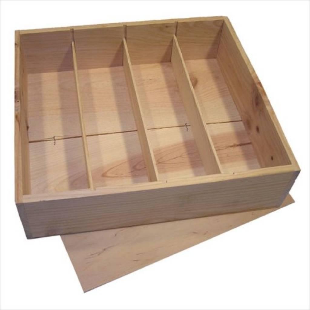 Madera baratos cajas de vino de 4 bandejas con tapa - Cajas madera baratas ...