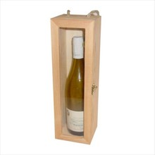 1-bin wine boxes with transparent viewing window (inside dimension 340 x 90 x 95 mm)