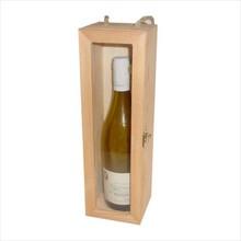 1-vaks wijnkisten met doorzichtig kijkvenster (binnenmaat 340 x 90 x 95 mm)