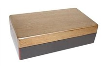 Classy wine boxes (2-bin) with gold lid