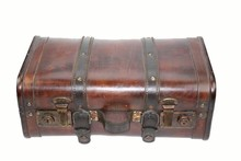 Cheap wooden colonial suitcase 'Trasor' medium (size 400 x 240 x 160 mm)