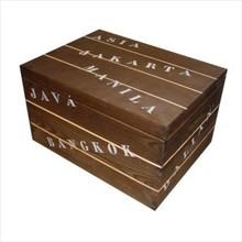 Дървен кораб кутии предоставят имената на Far Resorts (400 х 300 х 230 mm)