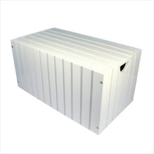 Modern wooden storage chest white 'Charlotte'