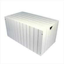 Moderne houten witte opbergkist 'Charlotte'