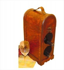 Exclusieve wijnkist Charles, geschikt voor 2 flessen wijn