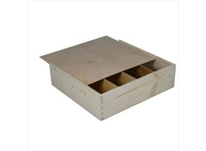 Buy cheap 4-bin wine boxes with sliding lid?